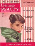 Audrey Hepburn on the cover of TEENAGE BEAUTY AND FASHION REVIEW
